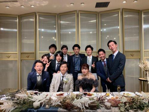 チームメイトの結婚式に参加!